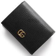 グッチ GUCCI カードケース/二つ折財布 プチ マーモント ブラック 456126 CAO0G 1000 レディース