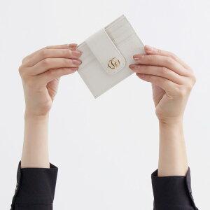 グッチ クレジットカードケース/コインケース【小銭入れ】 レディース プチマーモント オフホワイト 523196 CAO0G 9022 GUCCI