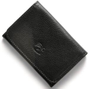 イルビゾンテ IL BISONTE カードケース スタンダード 【STANDARD】 ブラック C0470 P 153 メンズ レディース