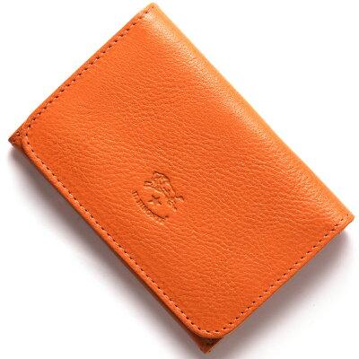 イルビゾンテ IL BISONTE カードケース スタンダード 【STANDARD】 オレンジ C0470 P 166 メンズ レディース
