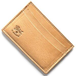 イルビゾンテ IL BISONTE カードケース スタンダード STANDARD ナチュラル C0567 P 120 メンズ レディース