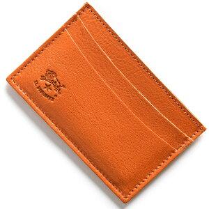 イルビゾンテ IL BISONTE カードケース スタンダード STANDARD オレンジ C0567 P 166 メンズ レディース