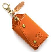 イルビゾンテ IL BISONTE キーケース/キーリング スタンダード STANDARD オレンジ C0847 P 166 メンズ レディース