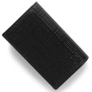 ロエベ LOEWE カードケース リネン LINEN ブラック 101 M97 88 1100 2017年秋冬新作 メンズ レディース