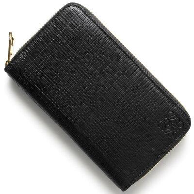 ロエベ LOEWE カードケース/コインケース【小銭入れ】 CREMALLERA LINEN ブラック 101 P31 88 1100 レディース