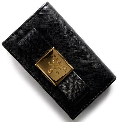 プラダ PRADA カードケース サフィアーノ フィオーコ SAFFIANO FIOCCO リボン ブラック 1MC122 2AEE F0002 レディース