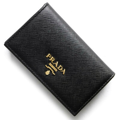 プラダ PRADA カードケース サフィアーノ メタル SAFFIANO METAL ブラック 1MC122 QWA F0002 レディース