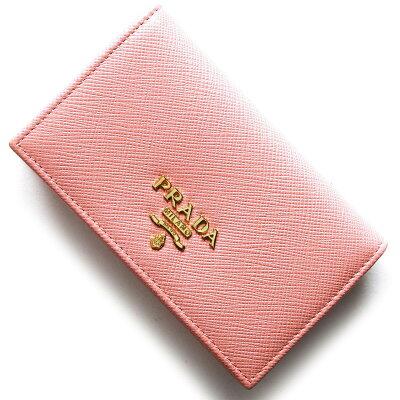 プラダ PRADA カードケース サフィアーノ メタル SAFFIANO METAL ペタロピンク 1MC122 QWA F0442 レディース