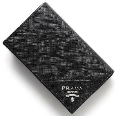 プラダ PRADA カードケース SAFFIANO METAL ブラック 2MC122 QME F0002 メンズ レディース