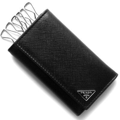 プラダ キーケース メンズ サフィアーノ トライアングル SAFFIANO TRIANG 三角ロゴプレート ブラック 2PG222 QHH F0002 PRADA