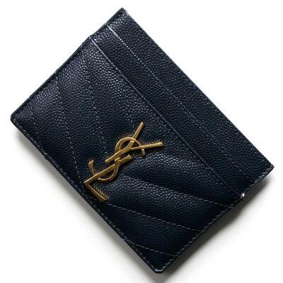 サンローランパリ イヴサンローラン カードケース/クレジットカードケース レディース モノグラム YSL ダークブルー 423291 BOW01 4128 SAINT LAURENT PARIS