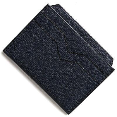 ヴァレクストラ VALEXTRA カードケース ブルー V8L77 028 U メンズ