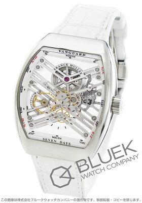 フランクミュラー ヴァンガード 7デイズ パワーリザーブ スケルトン クロコレザー 腕時計 メンズ FRANCK MULLER V45 S6 SQT AC BC