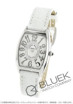 フランクミュラー FRANCK MULLER 腕時計 トノーカーベックス レリーフ ダイヤ クロコレザー レディース 1752 M QZ REL CD 1R