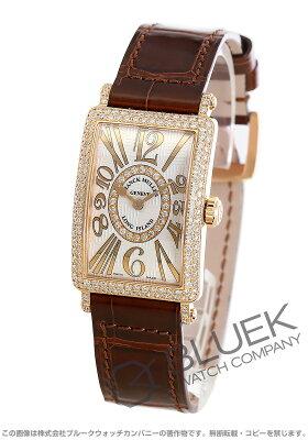 フランクミュラー FRANCK MULLER 腕時計 ロングアイランド アンサンブル レリーフ ダイヤ PG金無垢 クロコレザー レディース 902 QZ REL V-R D CD 1R