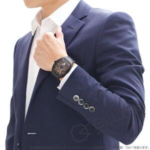 フランクミュラー ヴァンガード クロコレザー 腕時計 メンズ FRANCK MULLER V 41 SC DT TT NR BR 5N