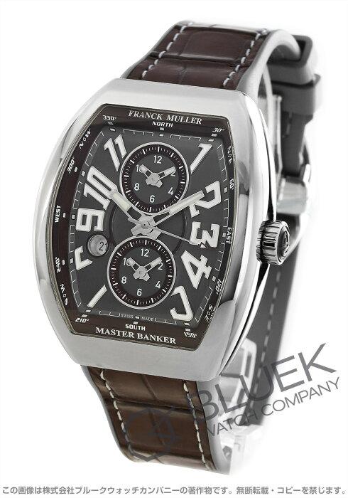 フランクミュラー ヴァンガード マスターバンカー クロコレザー 腕時計 メンズ FRANCK MULLER V 45 MB SC DT AC BN[FMV45SCMBPLSSGYLZBRLGY]