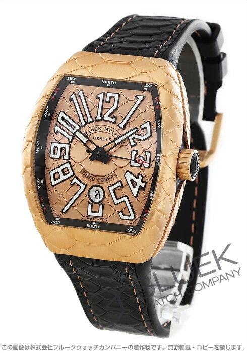 フランクミュラー ヴァンガード ゴールドコブラ PG金無垢 腕時計 メンズ FRANCK MULLER V 45 SC DT 5N NR GOLD COBRA[FMV45SCGCBRPGPGLZBK]