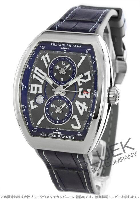 フランクミュラー ヴァンガード マスターバンカー クロコレザー 腕時計 メンズ FRANCK MULLER V45 MB SC DT AC BU[FMV45SCMBSSGYLZDBLGY]
