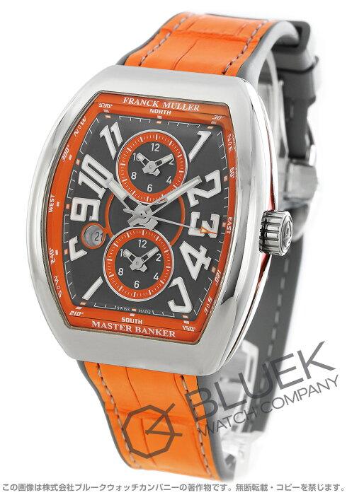 フランクミュラー ヴァンガード マスターバンカー クロコレザー 腕時計 メンズ FRANCK MULLER V 45 MB SC DT AC OR[FMV45SCMBSSGYLZORGY]