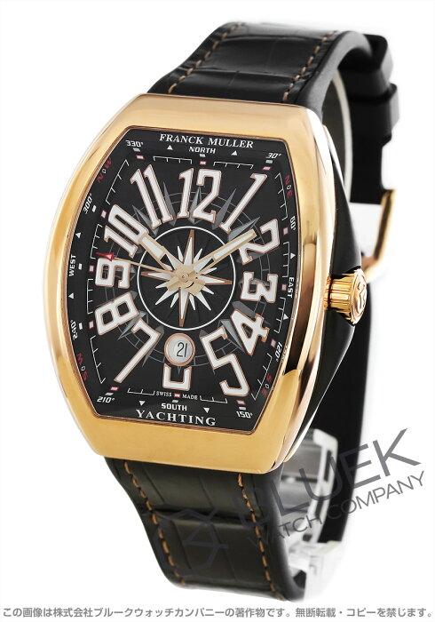 フランクミュラー ヴァンガード ヨッティング PG金無垢 クロコレザー 腕時計 メンズ FRANCK MULLER V 45 SC DT 5N NR YACHTING[FMV45SCYTPLPGBLLZBK]
