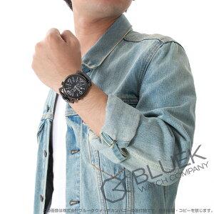 ガガミラノ シン クロノ46MM クロノグラフ リザードレザー 腕時計 メンズ GaGa MILANO 5099.01BK