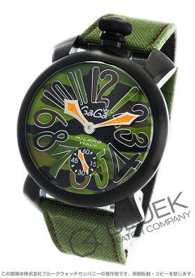 ガガミラノ マヌアーレ48MM 世界限定500本 コーデュラレザー 腕時計 メンズ GaGa MILANO 5012.5S