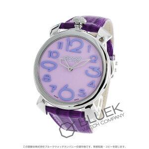 Gaga Milano Manuele Thin 46MM Lizard Leather Wrist Watch Unisex Gaga Milano 5090.10