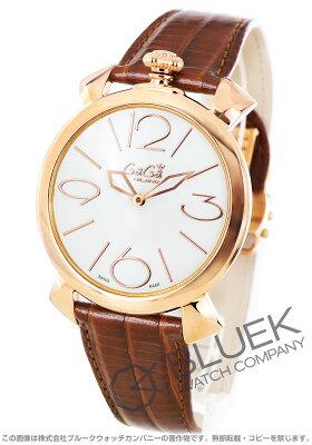 ガガミラノ マヌアーレ シン46MM リザードレザー 腕時計 ユニセックス GaGa MILANO 5091.01BN