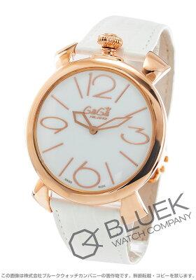 ガガミラノ マヌアーレ シン46MM リザードレザー 腕時計 ユニセックス GaGa MILANO 5091.01WH