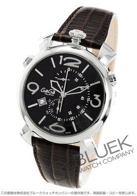 ガガミラノ シン クロノ46MM クロノグラフ リザードレザー 腕時計 メンズ GaGa MILANO 5097.01