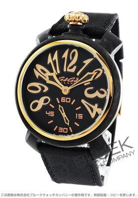 ガガミラノ マヌアーレ48MM カーボン 世界限定300本 コーデュラレザー 腕時計 メンズ GaGa MILANO 6061.02S