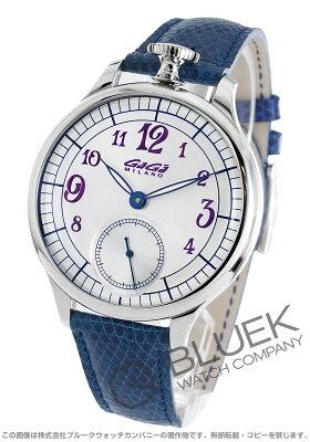 ガガミラノ シルバー 世界限定250本 リザードレザー 腕時計 メンズ GaGa MILANO 7040.3