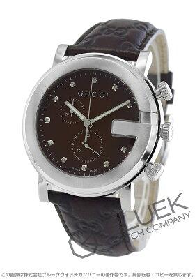 グッチ Gクロノ クロノグラフ ダイヤ 腕時計 メンズ GUCCI YA101344