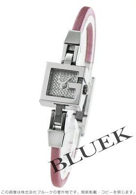 グッチ GUCCI 腕時計 Gミニ ダイヤ サテンレザー レディース YA102505