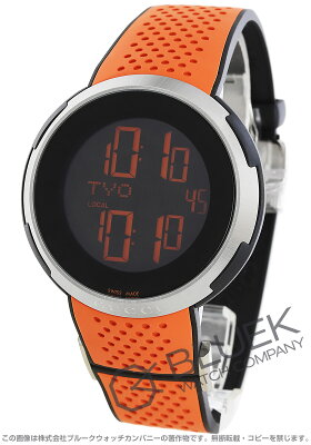 グッチ Iグッチ クロノグラフ デュアルタイム 腕時計 メンズ GUCCI YA114104