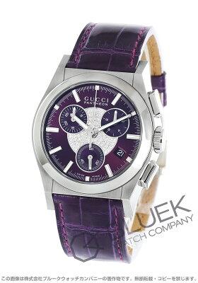 グッチ GUCCI 腕時計 パンテオン ダイヤ アリゲーターレザー ユニセックス YA115414