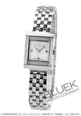 グッチ GUCCI 腕時計 Gフレーム スクエア ダイヤ レディース YA128405