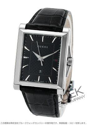 グッチ Gタイムレス レクタングル アリゲーターレザー 腕時計 メンズ GUCCI YA138406