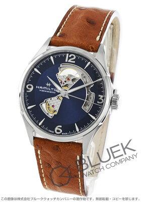 ハミルトン ジャズマスター ビューマチック オープンハート オーストリッチレザー 腕時計 メンズ HAMILTON H32705041