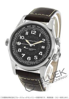 ハミルトン カーキ ネイビー UTC GMT 300m防水 腕時計 メンズ HAMILTON H77505535