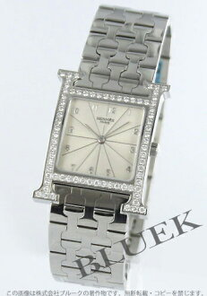 Hermes H watch DIA bezel silver boys HH1.530.271/4805