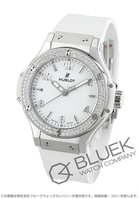ウブロ ビッグバン スチールホワイト ダイヤ 腕時計 レディース HUBLOT 361.SE.2010.RW.1104
