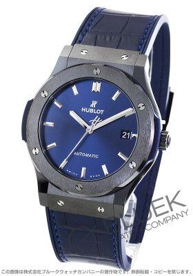 ウブロ クラシック フュージョン セラミックブルー アリゲーターレザー 腕時計 メンズ HUBLOT 511.CM.7170.LR