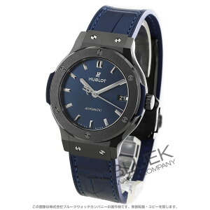 Hublot Classic Fusion Ceramic Alligator Leather Wrist Watch Unisex HUBLOT 565.CM.7170.LR