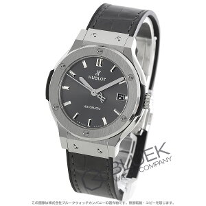 Hublot Classic Fusion Titanium Alligator Leather Wrist Watch Unisex HUBLOT 565.NX.7071.LR