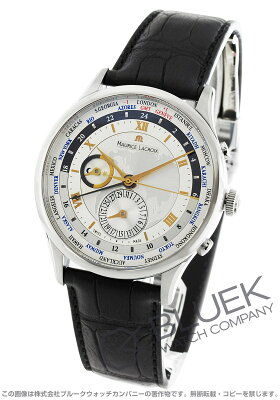 モーリス・ラクロア MAURICE LACROIX 腕時計 マスターピース トラディション ワールドタイマー クロコレザー メンズ MP6008-SS001-110