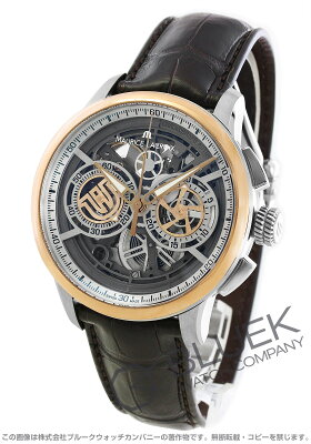 モーリス・ラクロア マスターピース スケルトン クロノグラフ クロコレザー 腕時計 メンズ MAURICE LACROIX MP6028-PS101-001-1