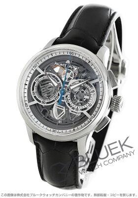 モーリス・ラクロア マスターピース スケルトン クロノグラフ クロコレザー 腕時計 メンズ MAURICE LACROIX MP6028-SS0010-011