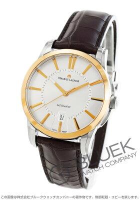 モーリス・ラクロア MAURICE LACROIX 腕時計 ポントス デイト クロコレザー メンズ PT6148-PS101-130